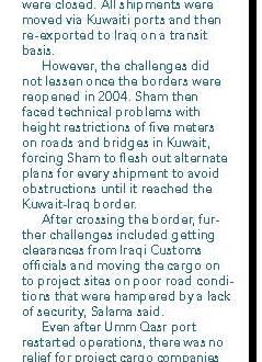 Capt. Shadi Salama of Sham Logistics Services Interviewed for Breakbulk Magazine