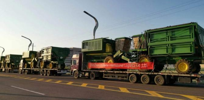Uni-Home with International Trucking of Cotton Pickers